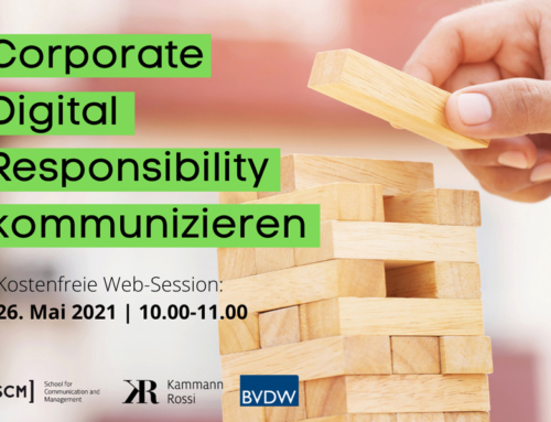 Webinar: Corporate Digital Responsibility und Digitale Transformation – Verankern, Kommunizieren, Begleiten