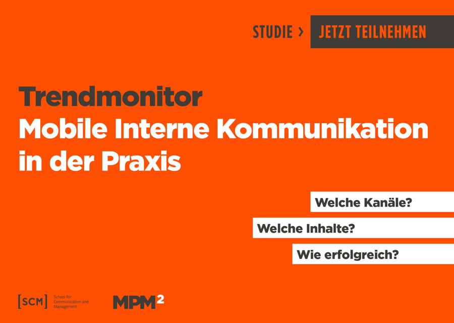Mobile interne Kommunikation in der Praxis: Umfrage von SCM und MPM