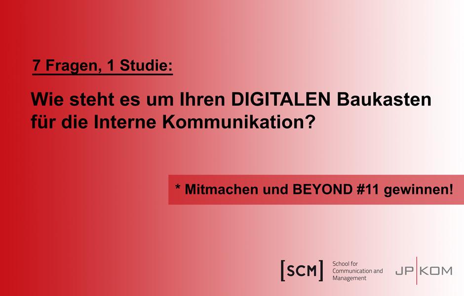 Der digitale Baukasten der internen Kommunikation: Kurzumfrage