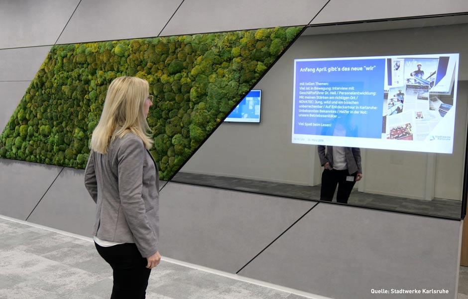 Blinkende Bildschirme – Digital Signage in der internen Kommunikation